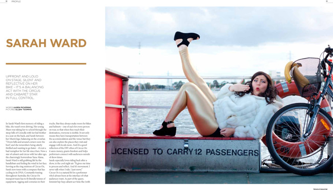 Sarah Ward in Treadlie Magazine Issue 9 December 2013