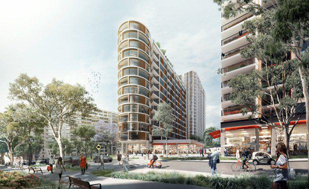 Ivanhoe-estate-Town-square-and-retail-area-from-north