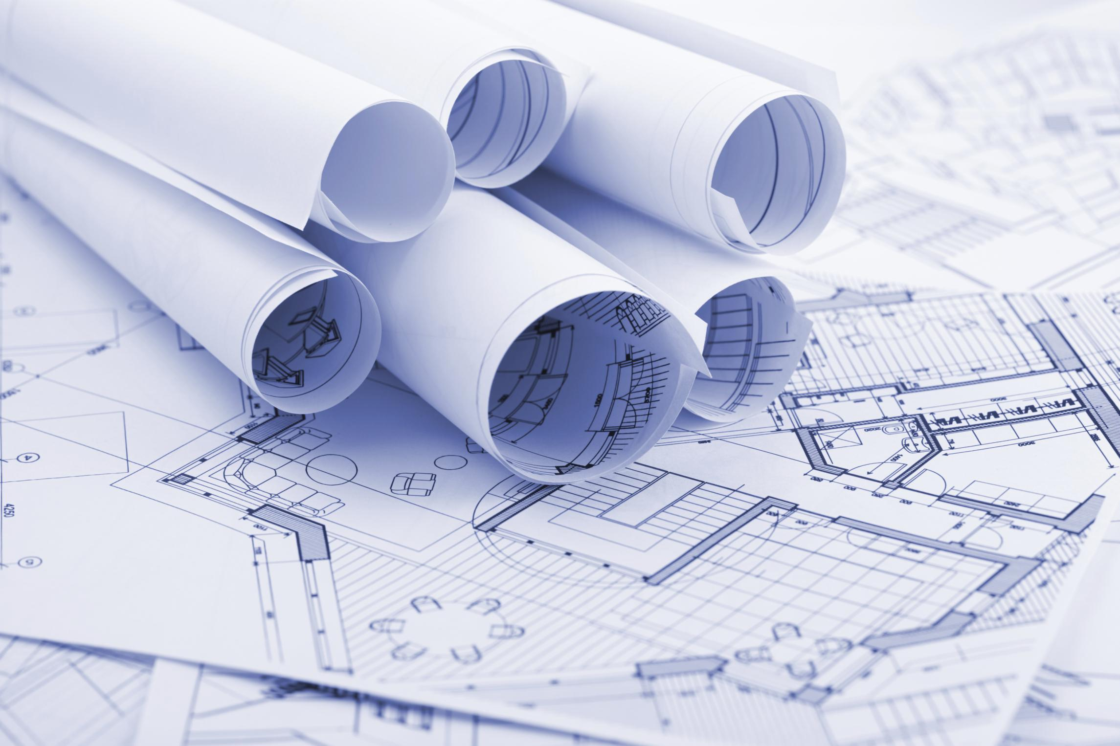 Rolled-Construction-Plans