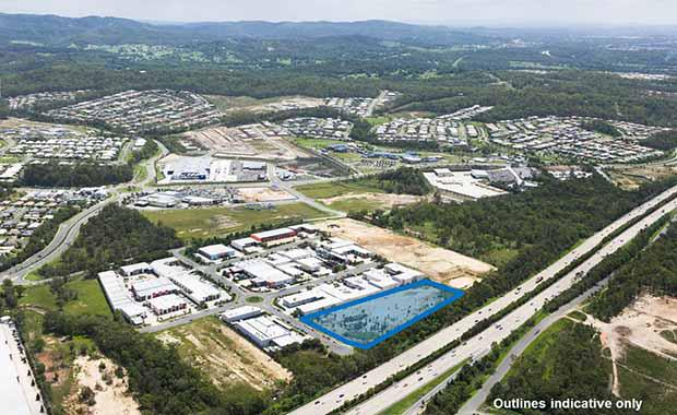 Upper-Coomera-industrial-land-marked-up