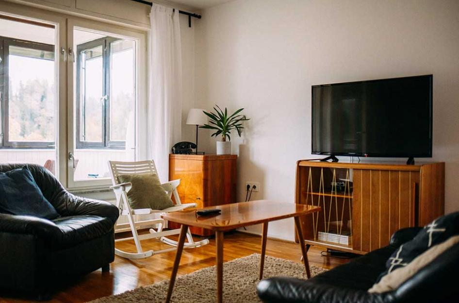 photo of a tv in lounge room by lks_bt @ unsplash.com