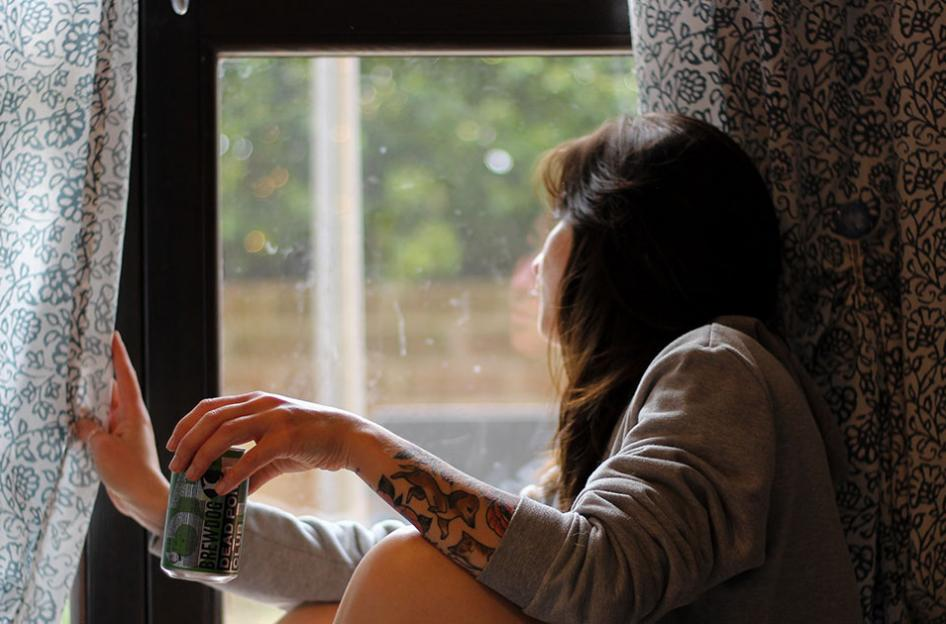 woman drinking at home by monicadiloxley @ unsplash.com