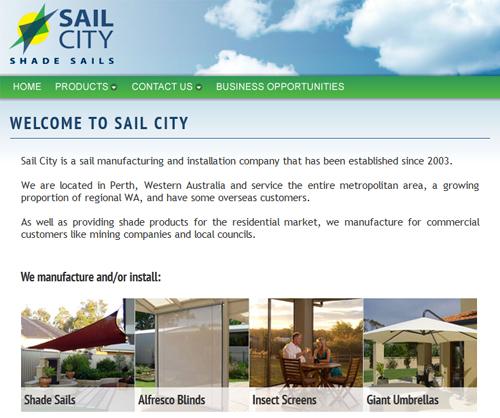 Sail City website