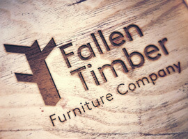 New compact logo engraved wood mock up