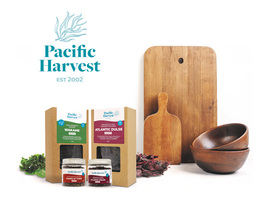 Pacific harvest logo and product range