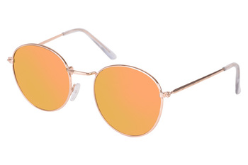 Gibson rounded gold frame sunglasses