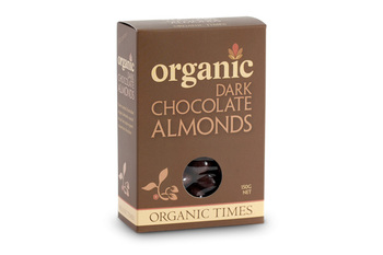Organictimes dark chocolate almonds