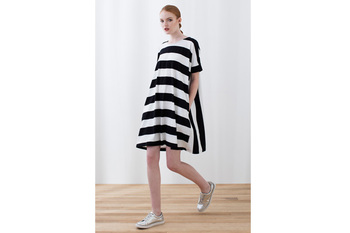 Elk block stripe dress