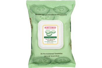 Burt's bees facial cleansing towelettes cucumber   sage