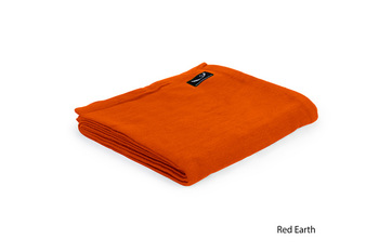 Organic yoga blanket red earth