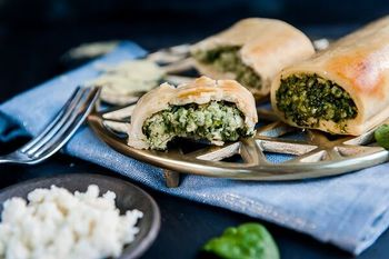 Spinach roll styled preview