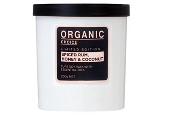 Limited edition pure soy candle %28spiced rum  honey   coconut%29