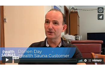 How darren used his ihealth sauna to reduce pain and improve energy levels