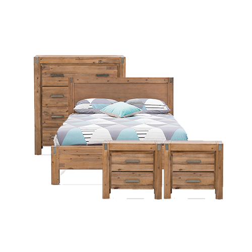 Silverwood 4 Piece King Tall Chest Bedroom Suite