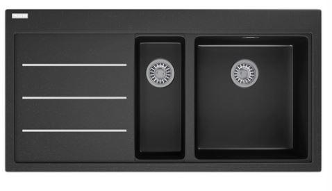 FRANKE - Mythos fusion onyx sink. Left hand drainer