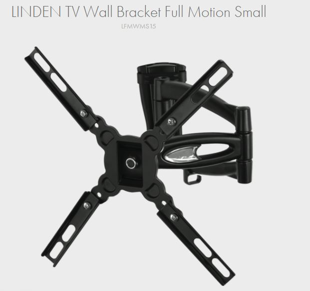 LINDEN Full Motion TV Wall Bracket Small (15-32