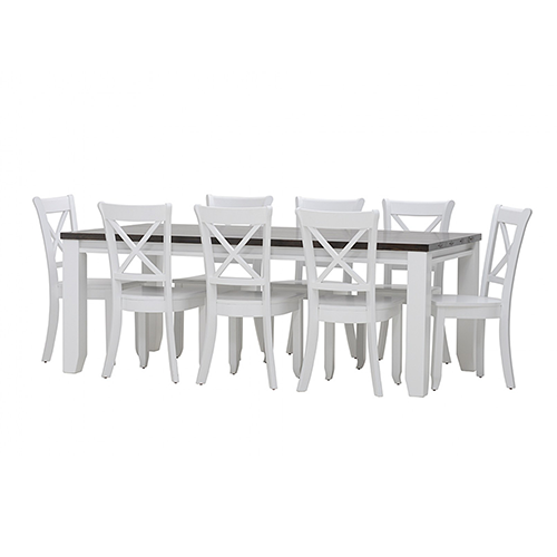 Le Franschhoek 9 Piece Dining Suite with Clouds Chairs