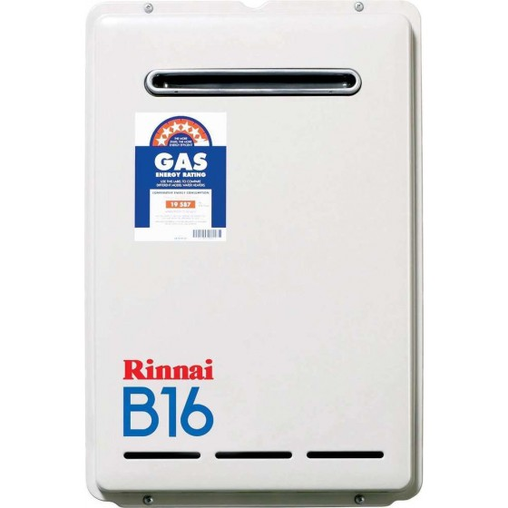 Rinnai Natural Gas Continuous Flow Hot Water System (B16 Builders Series)