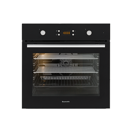 Baumatic 7 Function Electric Oven - Black / SS