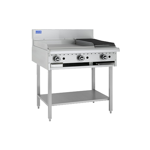 Luus Essentials 600mm Griddle 300mm Chargrill Combination