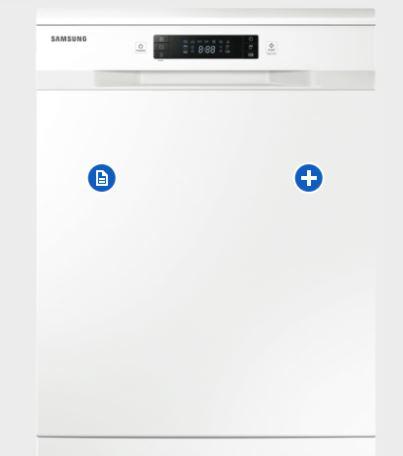 Samsung DW60H6050FW white dishwasher
