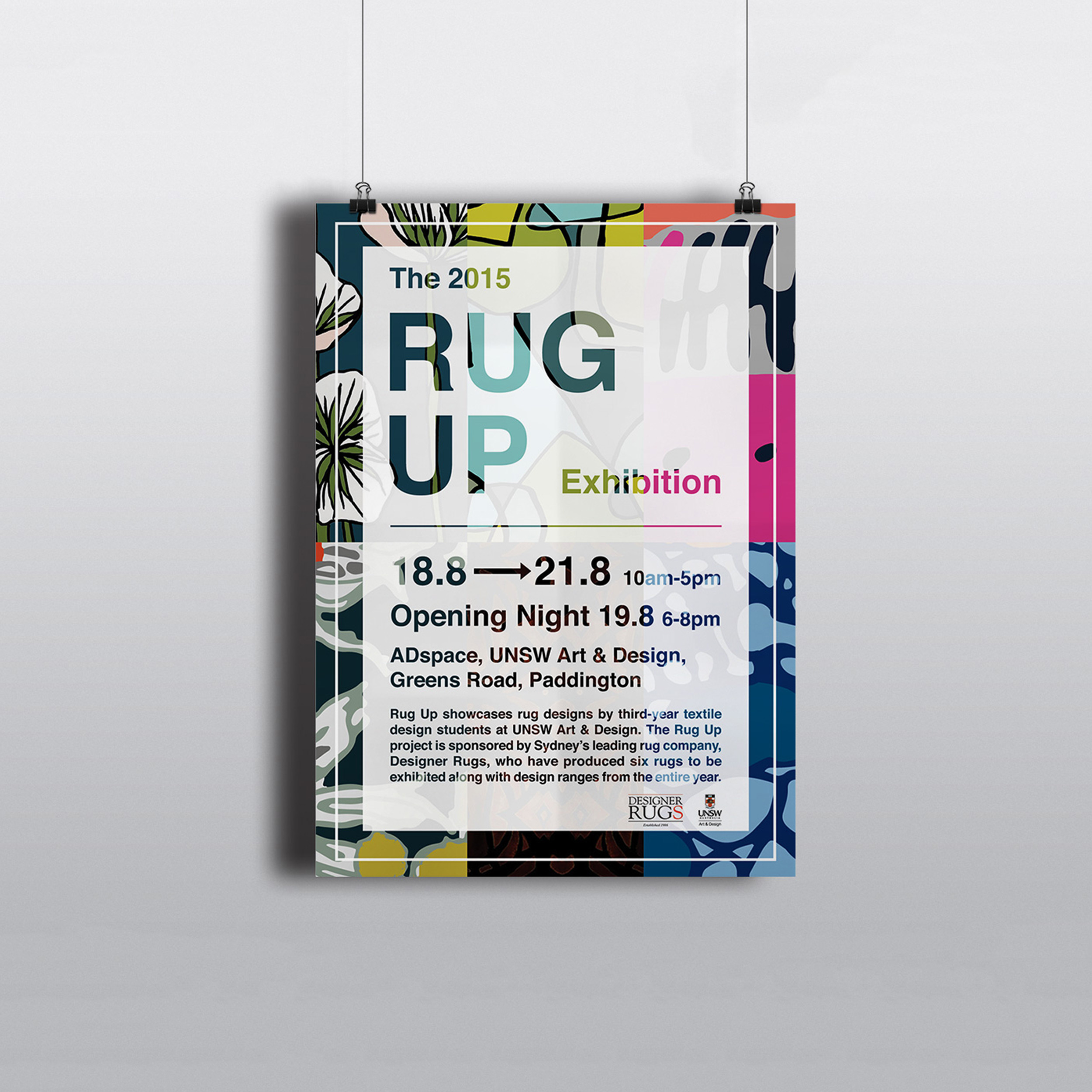Rug Up Exhibition Poster