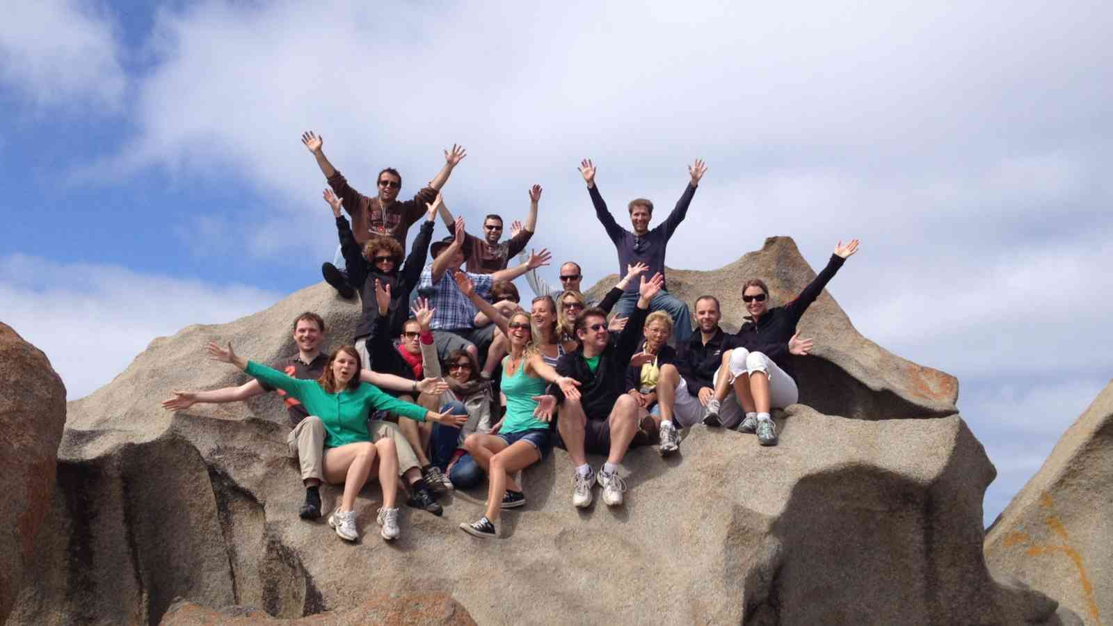 Excited Group at Remarkable Rocks