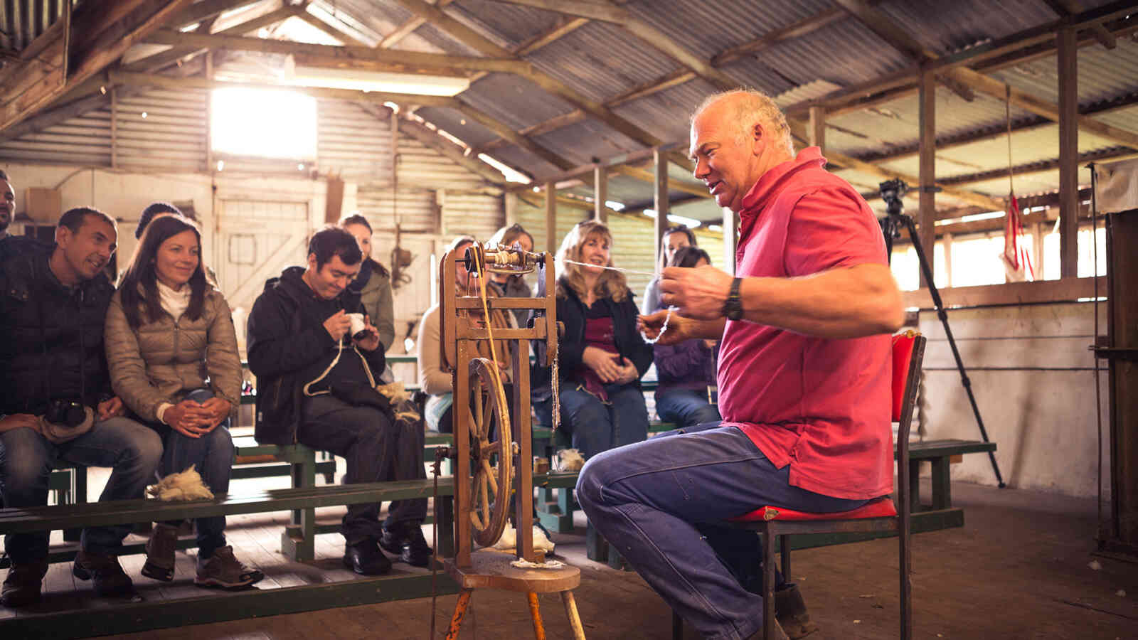 Spinning Wool At Robs Shearing Shed 1920X1200Px