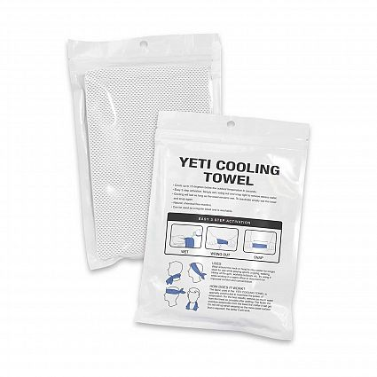 Yeti Premium Cooling Towel - Full Colour - Pouch