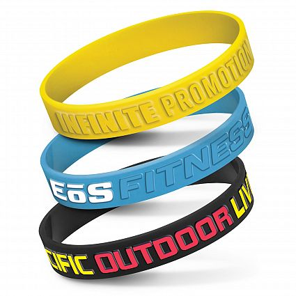 Silicone Wrist Band - Embossed