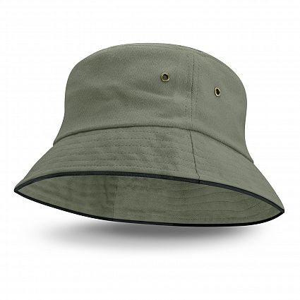 Bondi Bucket Hat - Black Sandwich Trim