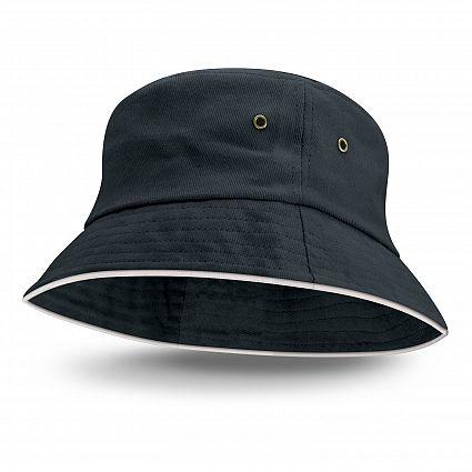 Bondi Bucket Hat - White Sandwich Trim