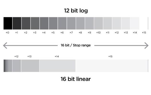 Record 16-bit linear RAW