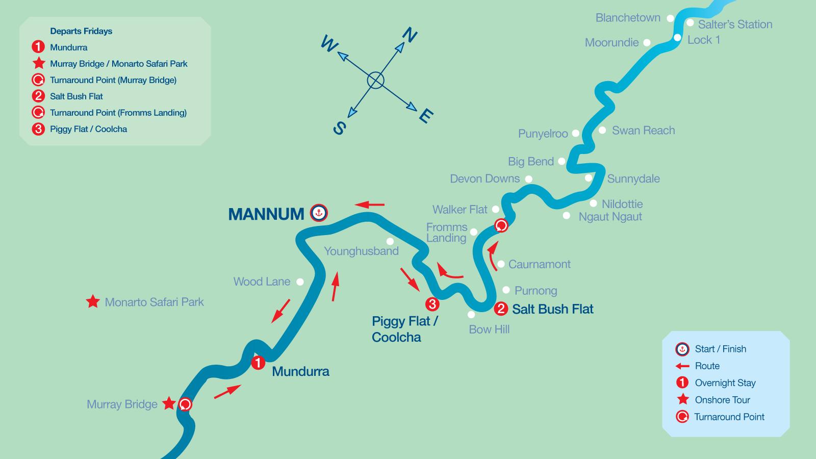 Map of 3 Night Cruise Itinerary