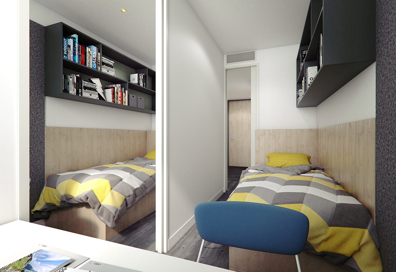 Ca B2 Two Bedroom Studio With Single Beds Urbanest