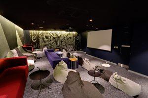 International student accommodation featuring Mulga artwork