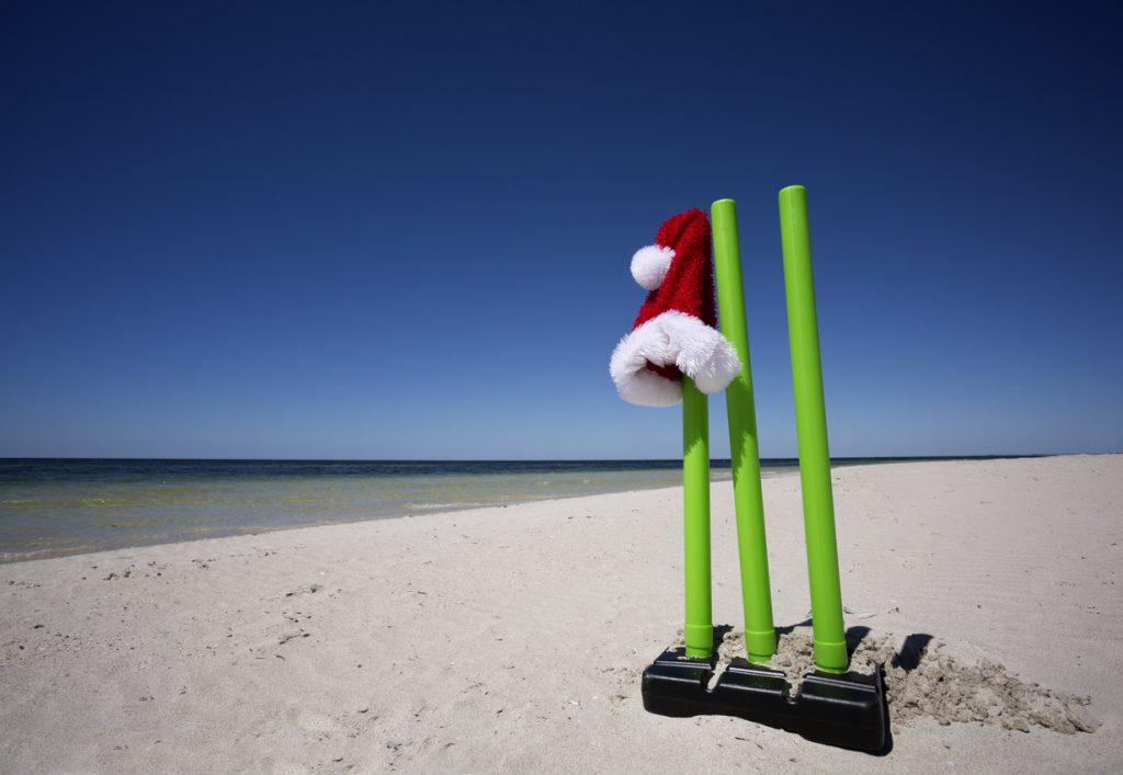 Australian Christmas Culture, summer on the beach and Cricket.
