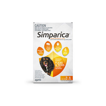 Simparica Small 6 Pack 5.1 - 10kg