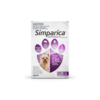 Simparica Extra Small 3 Pack 2.6 - 5kg
