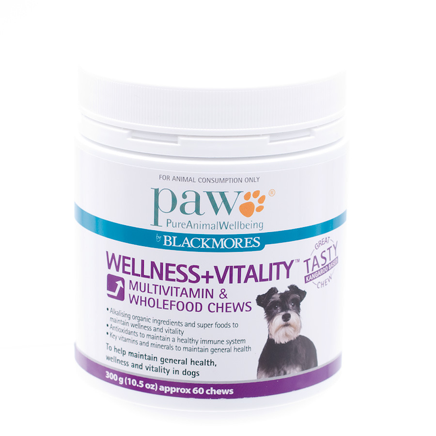 product sample PAW Wellness & Vitality Multivitamin Chews