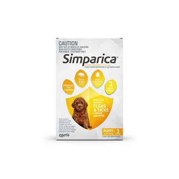 Simparica Puppy 3 Pack 1.3 - 2.5kg