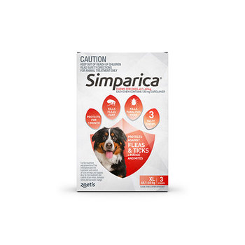 Simparica Extra Large 3 Pack 40.1 - 60kg