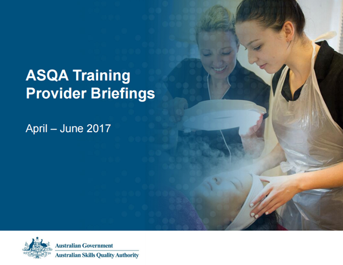 ASQA's Training Provider Briefing Webcast Recording Now Available image