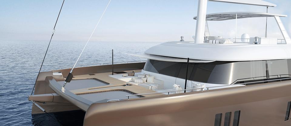 sunreef 60 sailing deck