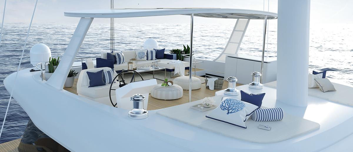 sunreef 60 sailing flubridge