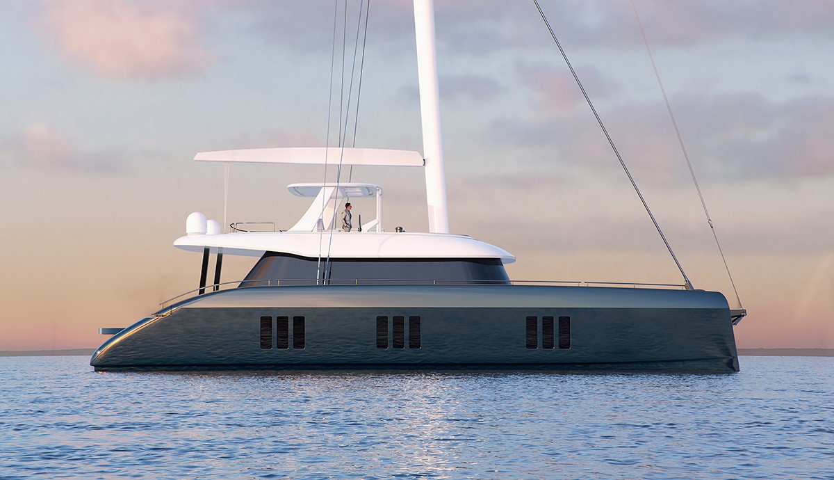render sunreef 70 sailing