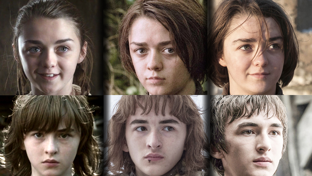 The evolution of GOT character's faces