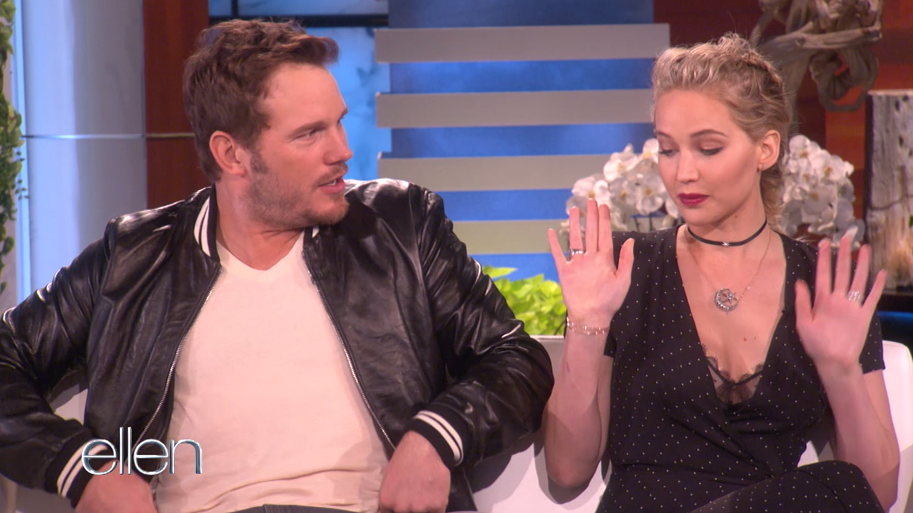 Jennifer Lawrence and Chris Pratt talk outer space stunts