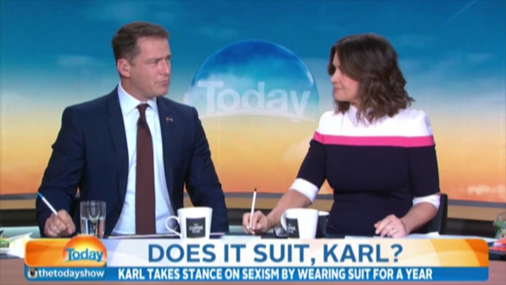 Karl Stefanovic wears same suit for a year in 'sexism experiment'