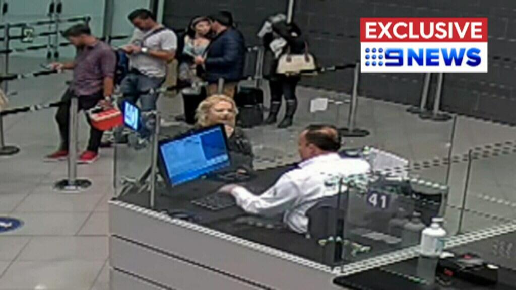 CCTV shows moment of Cassie Sainsbury's arrest at Bogota Airport